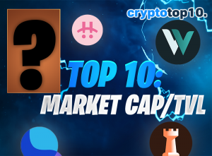 Top 10 Coins by Market Cap/TVL Ratio